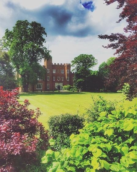 The grounds ofHertford Castle.