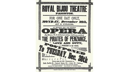 Poster for the copyright performanceat Paignton