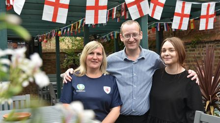 England v Ukraine Staff at the Kings Head in Bury St Edmunds