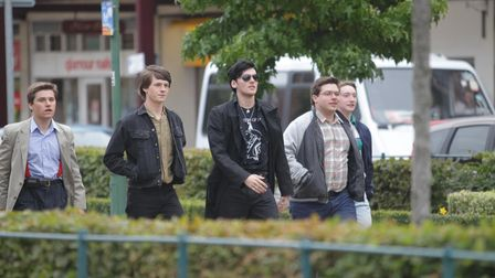Shooting of The World's End on Broadway Letchworth GC
