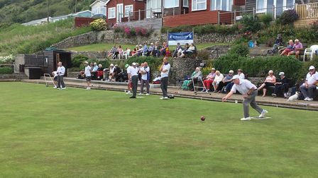 Happy day of bowling at Lyme Regis