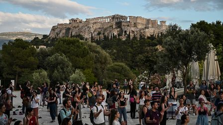 Athens on May 21, 2020. (Photo by ARIS MESSINIS/AFP via Getty Images)