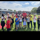 Ex boxing champion Wadi Camacho helps out at Calverton school sports day