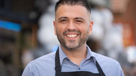 Ozzie Bozdag, owner of Codfellas fish and chip shop in Ipswich which is celebrating it's fourth anni