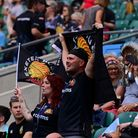 Exeter Chiefs fans during the Gallagher Premiership Cup Final between Exeter Chiefs and Harlequins a