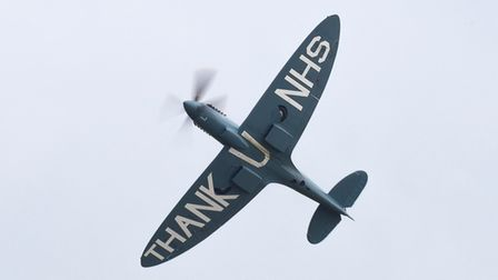 The NHS Spitfire displaying at IWM Duxford.