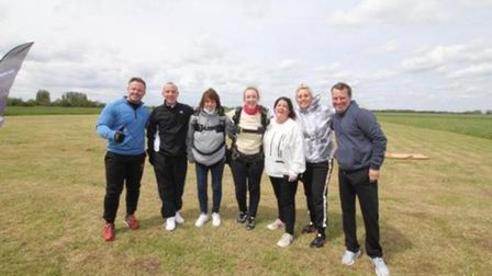 The team of six taking on the sky dive for Big C in May.