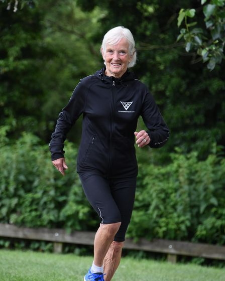 Eva Osborne, 81, of Wymondham, who has run a mile in the fastest time in her age group. Picture: DEN