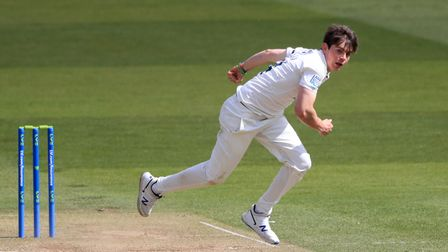 Middlesex's Ethan Bamber during the LV= Insurance County Championship match at Lord's Cricket Ground