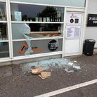 The damage left after the burglary to The Gym Braunton