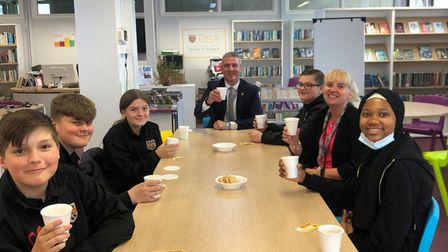 Hot Chocolate Friday with Onslow St Audrey's headteacher David Bullock to reward fantastic work from Year 8 students.