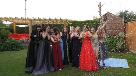 Students hold prom after Covid cancels school event.