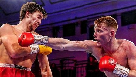 Billy Underwood during his last fight at York Hall (Pic: Warren Boxing Management)