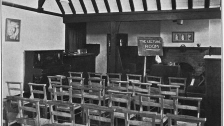 The Brunt Room, formerly the lecture room, at Letchworth Settlement. Picture: Letchworth Local History Research Group