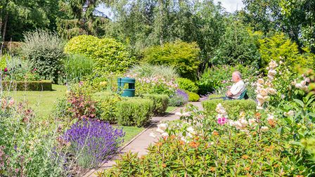 Rodmoor Gardens in Portishead on South West In Bloom judging day on Monday.