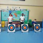 Worle Village Primary School youngsters enjoyed archery lessons.