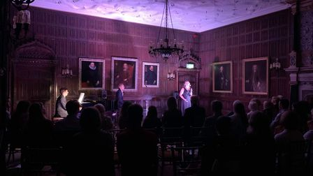 Danny Whitehead and Laura Pick performing at Rothamsted Manor.