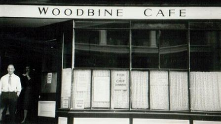 Tommy Knott at the Woodbine Café in Lowestoft, which he used to run with his wife Joan.