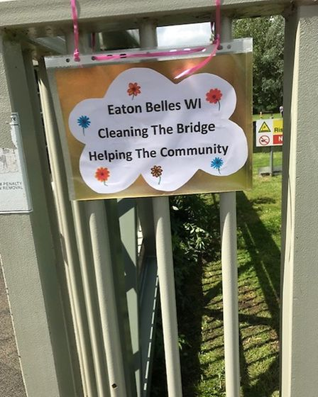 The Coneygeare bridge is now clean, thanks to the Eaton Belles WI.