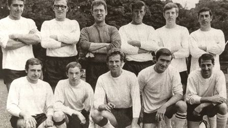 Ray Easy (back row, 3rd from left) – Royston Town Reserves 1968/9