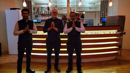 Former Labour leader Jeremy Corbyn visited the Namaste Village in Norwich