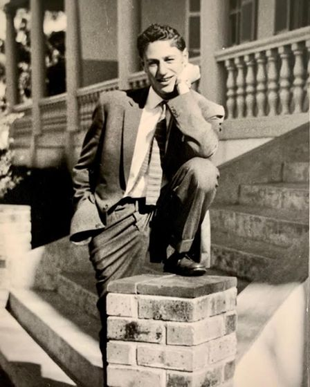 Mervyn, admired for his outfits, in a suit at boarding school
