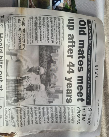 Ray in the Royston Crow newspaper from January 2001