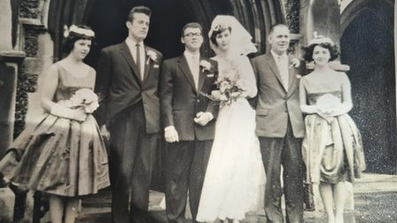 Ray and Rita on their wedding day