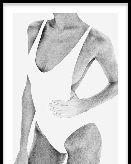 Graphite Swimsuit fromMolly-Mae Hague's collection with Desenio.