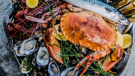 Yorkshire Coast Fruits de Mer from The Seaview Restaurant Saltburn-by-the-Sea