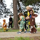 Children from Peter Pan's day nursery in Ilford taking part in Barnardo's Big Toddle
