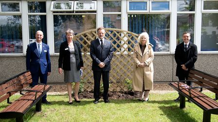 Three Captain Sir Tom Moore rose bushes were planted after the memorial service