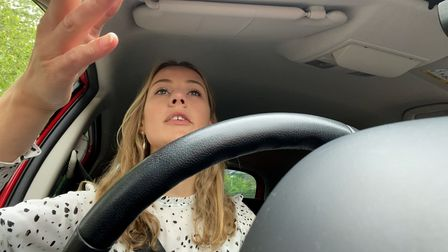 Visual journalist Ella Wilkinson fighting off road rage in the race to Norwich from the UEA