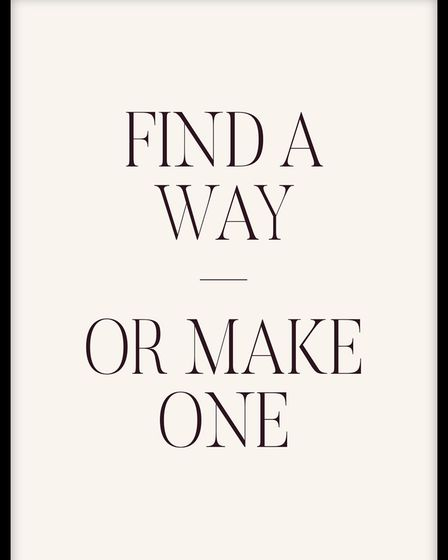 Find a Way poster from Molly-Mae Hague's collection with Desenio.