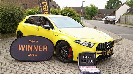 St Albans' Paolo Richards won a £51,000 Mercedes-AMG A45 S and £15,000 in cash fromBOTB.
