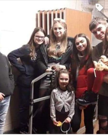 Coner with his sister Naomi and their cousins