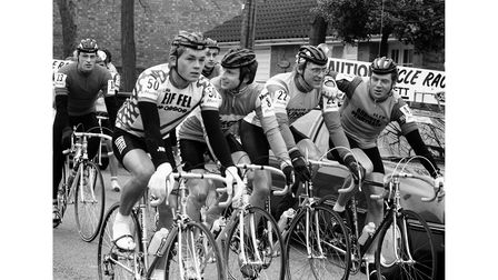 The Grand Prix of Essex cycle race at Halstead March 1984