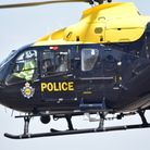 The police helicopter was called in to investigate reports of a road rage incident involving a machete.