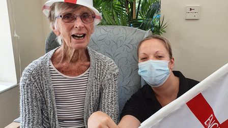 Tricia Dalby and Samantha Subebeof Woodspring House care home in Fakenham