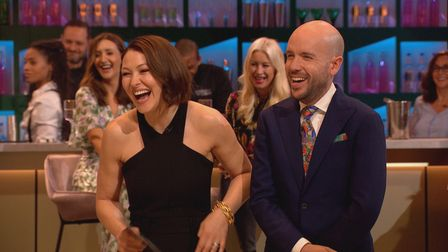 From South Shore, Cooking With The Stars is hosted by Emma Willis and Tom Allen.