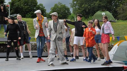 Best Theatre Arts' production Olympiaganza at the Roman Theatre Open Air Festival in St Albans.