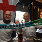 England fans cheers on their side in Martlesham