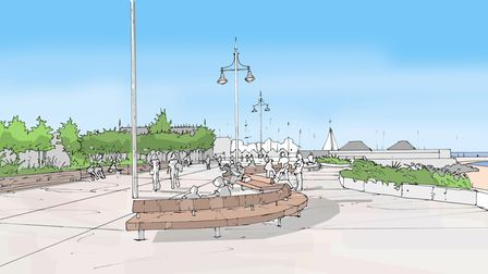 A visual of Royal Green in Lowestoft.