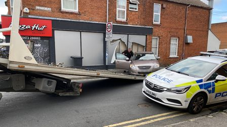 The vehicle was recovered this morning after the driver was arrested on suspicion of drink driving.