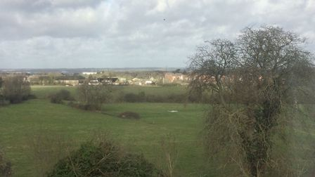 The view from the Bushey Heath home where Emma grew up.