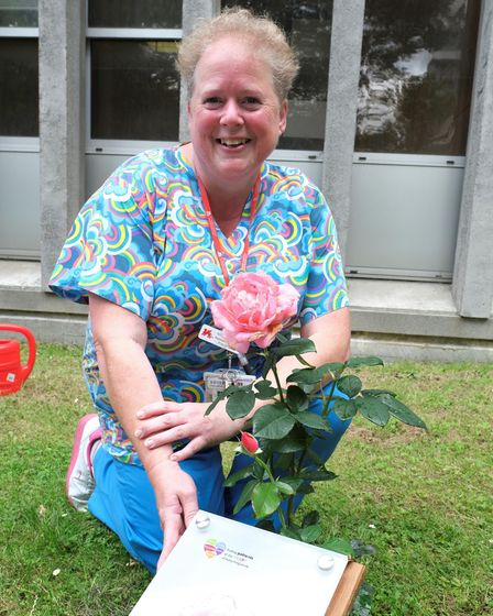 Nicky Palmer suggested a Covid memorial rose garden for colleagues at Northwick Park Hospital