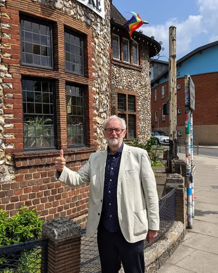 Jeremy Corbyn visited the Artichoke on Friday afternoon.