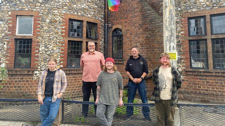 The Artichoke pub have replaced their Pride flag which was torn down. Pictured is Sam Caynes (barten