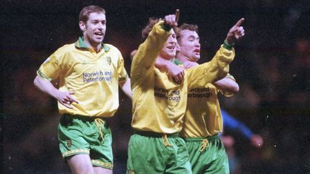 NCFC V IPSWICH 20.3.95 3-0 To Norwich Photo: Archant Library