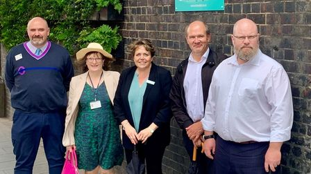 From left to right:Jose Miro-Blanking, Cllr Judith Holt, Julie Frost, Iain Boulton and Tom Stobbart.